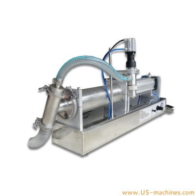 5 Liter liquid water juicy oil single head filling machine semi automatic horizontal piston 5 gallon pneumatic filler
