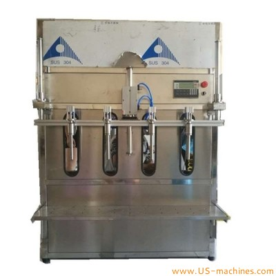 1L-20L 4 heads filling machine semi automatic bucket pail drum bottle filling machine for antifreeze glass water wine alcohol manure foam liquid edible oil