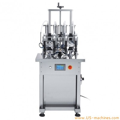 Semi automatic 4 heads perfume negative pressure vacuum filling machine cosmetic fragrance liquid floral water filling machine for glass bottles