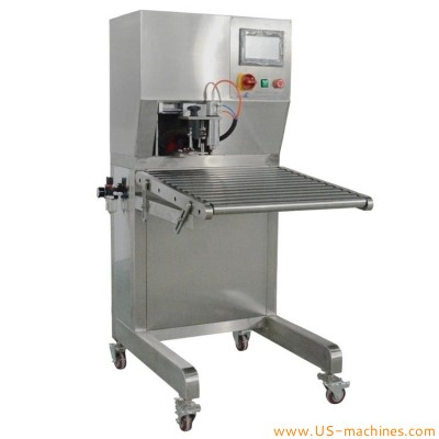 Semi automatic bag in box BIB single nozzle filling capping machine juice wine water oil syrup mayonaise large bag-in-box filler capper 2 in 1 equipment