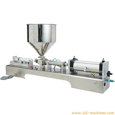 Silicone sealant glass glue tube semi automatic filling machine tabletop glue single head filling machine with loading hopper paste pointy tube hose AB glue filler