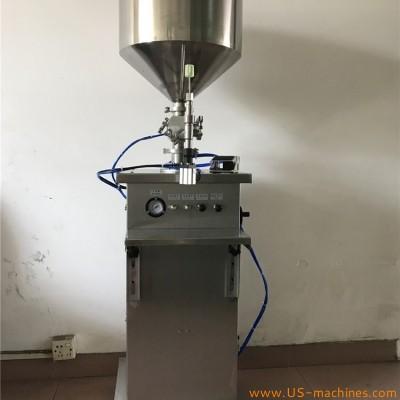 Semi automatic syringe needle single nozzle filling machine pneumatic type vertical injection filler pharm medical cream paste liquid gel syringe packing filling machinery