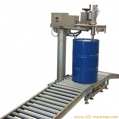 Industrial 200L barrel drum buckets chemical liquid weighing filling machine oil tank latex paint drum acid solution weigher filler line explosopm proof system