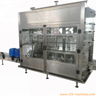 Automatic 4 heads 20L barrel lubricant oil weighing filling machine high precision cutomized greases drum pail bucket weighing filler line synthetic oil multi nozzles weight filling machine