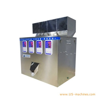 1-90g 4 station high accuracy vibration particle powder granule weighing racking filling machine microcomputer intelligence tea quantitative filling machine