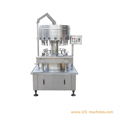Negative pressure automatic rotary liquid wine filling machine soy sauce red fruit wine glass bottle filler line multi heads system