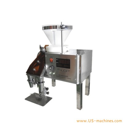 Small tabletop capsule counting filling machine enconomy model tablet pill capsule counting filler with two heads position