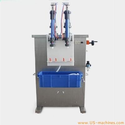 Pesticide anti-corrosion vertical double-head quantitative filling machine semi automatic filler equipment for corrosive liquid etchnat clearn bottles