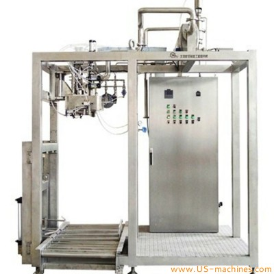 Automatic food juice guava single head aseptic bag in box 220L filling machine fruit concentrate juice paste pulp jam 200L aseptic filling line with sterilization system