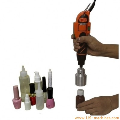 Handheld electric screwing capping machine manual PET bottle capper portable chucnks plastic cap cover capping equipment