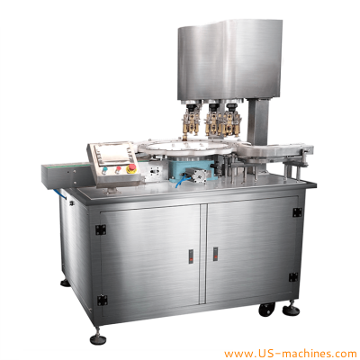 Aluminum alloy ROPP 3 heads capping sealing machine automatic metal cap glass bottle jar high speed screw electric metal Ropp capper sealer line