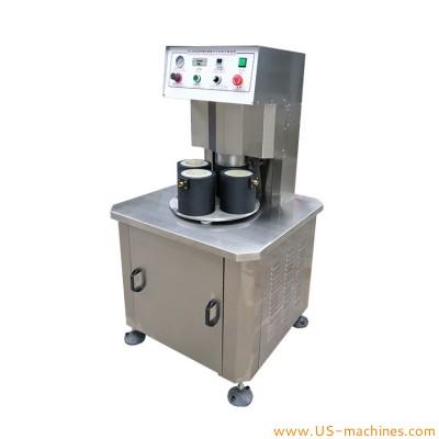 Semi automatic 4 heads glass jar bottle vacuum capping machine food paste jam sauce bottle twist off cap tightening machine lug cap rotary vacuum sealer
