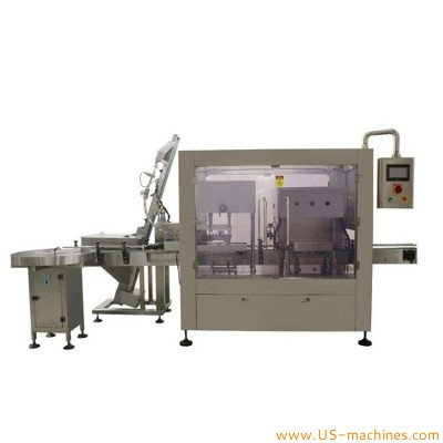 Automatic glass jar lug cap vacuum capping machine inline bottle containers sealing capping machine vacuum twist off sealer packaging equipment with cap elevator