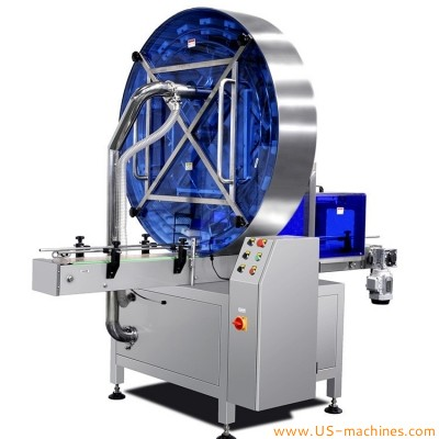 Automatic rotary UV light sterilization air washing cleaning tunnel type machine for bottles metal can tin UV sterilzation tunnel