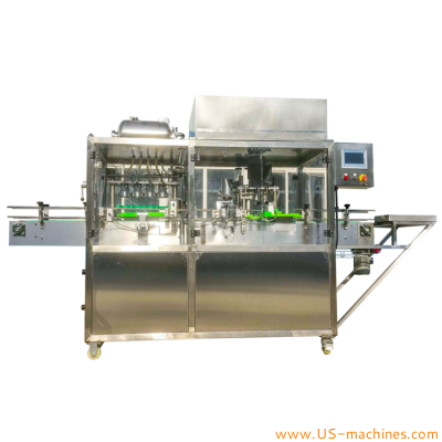 4 heads automatic carbonated beverage can filling sealing machine brewery beer canning metal lid sealing packaging canning line