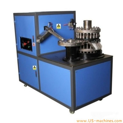 Automatic bottle plastic cap edge folding machine high speed round cap cover edge folding equipment
