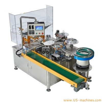 Automatic laminated soft tube capping foil sealing machine double heads tube flip top cap screw capping foil sealing machine for toothpaste tubes