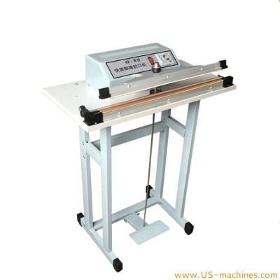 Foot Impulse Sealing Machine Pedal Double-Side Heating Sealer machine Foot Pedal Bags Sealer Pedal Cutting Sealing Machine