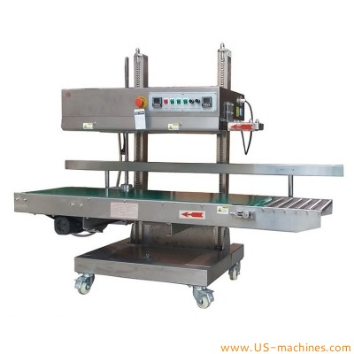 Heavy bag type continuous band sealer vertical plastic bag heat sealing machine large bag plastic film sealer