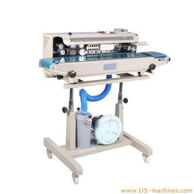 Inflatable film bag vertical sealing machine semi automatic continuous band heat sealing machine with gas flushing filling function