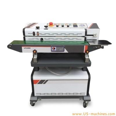 Semi automatic continuous vacuum sealing machine with Nitrogen gas flush continuous band sealer sealing machine
