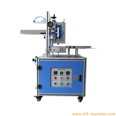 Semi automatic carton box hot melt sealing machine food carton tissue biscuit paper box hot melt glue sealer with glue tanks