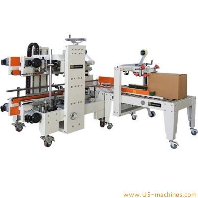 Automatic H type cartoning edge sealing machine four side carton box corner top bottom taping sealing equipment adhesice tape carton sealer