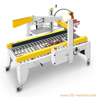Automatic carton flaps folding sealing machine small carton box adhesive tape sealer equipment