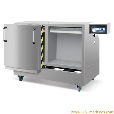Vertical double chamber room vacuum packing machine raw cashew nut coffee bean rice brick shape stand type double room vacuum sealer with dust filter