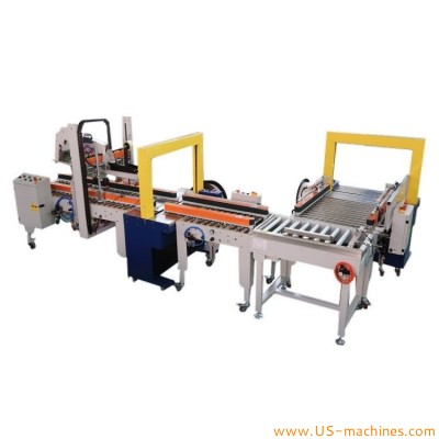 H type carton sealing cross type strapping sealing machine Top bottom tap carton sealing machine