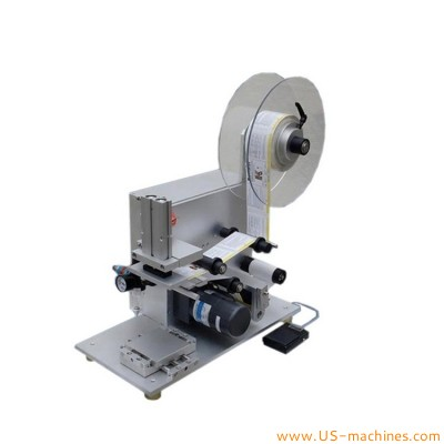 Mini stampping type flat bottle surface labeling machine benchtop label applicator equipment