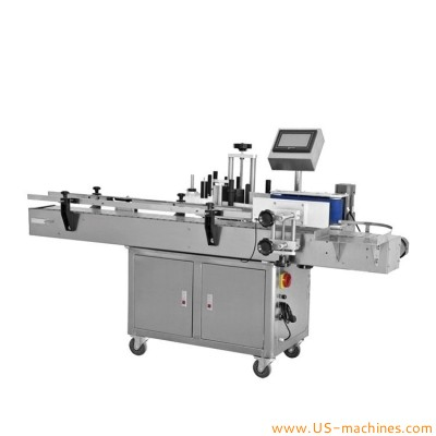 Automatic round bottle rolling labeling machine food drinking beverage water bottle cosmetic jar can adhesive sticker applicator machine