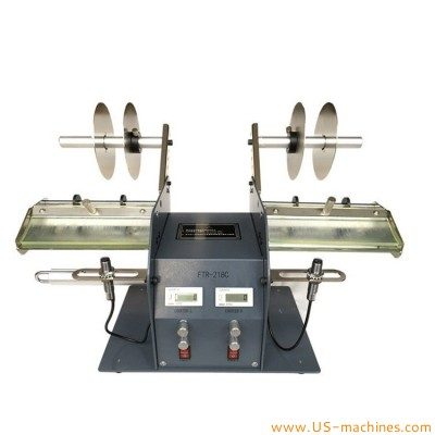 Automatic double heads label sticker peeling machine adhesice label roll double station label peeling equipment
