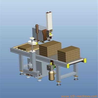 Automatic real time printing labeling machine side carton box label printing applicator line