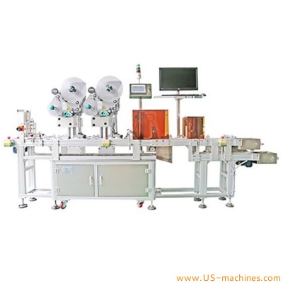 Automatic card carboard paging dispensig real time printing labeling machine card tag labeler line