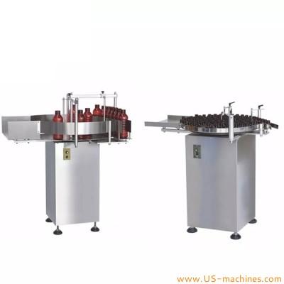 SS304 automated bottle sorting unscrambler turntable machine feeding turntable for juice beverage essential oil jam cream paste bottle vials jars