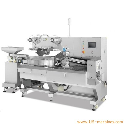 Automatic chewing gum candy bar buscuit pillow pouch bag packaging machine chocolate bar candy bagging line
