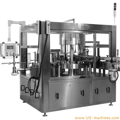 Automatic cold wet glue rotary round bottle square bottle labeling machine cold wet paste plastic glass bottle can tine labeler line