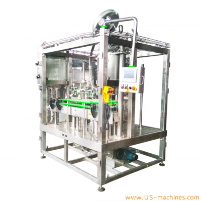 Automatic beer glass bottle rinsing water washing beer filling crown lid capping sealing machine fruit beer bottle filling production line