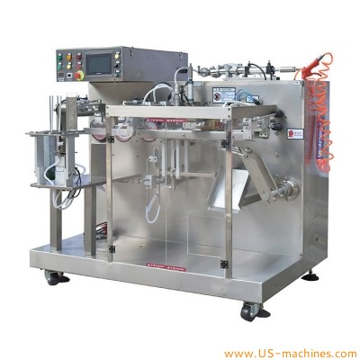 Automatic mini type premade bag given filling sealing machine for liquid paste jam oil cream bag pouch with single filler nozzles
