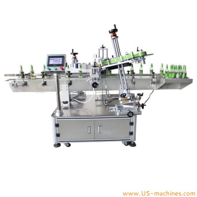 Automatic beer bottle glass wine bottle neck labeling machine curl label cone top bottle neck adhesive sticker label applicator