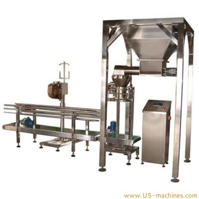 Semi automatic 25kg large bag powder granule filling sealing machine weighing filler stitching bagging line