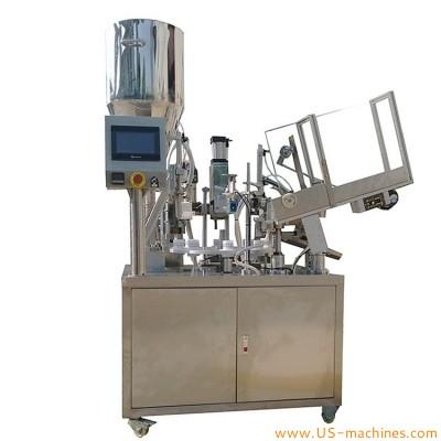 Automtic plastic laminate soft tube tail filling heating sealing machine tube rotary filler sealer packaging machine