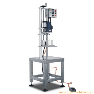 Pedal switch control manual capping machine for engine oil bucket pail drum bottle after filling machine