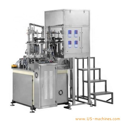 Automatic disposal paper cup tea filling hidden machine rotary tea cup filling heat sealing machine instant tea paper cup production line