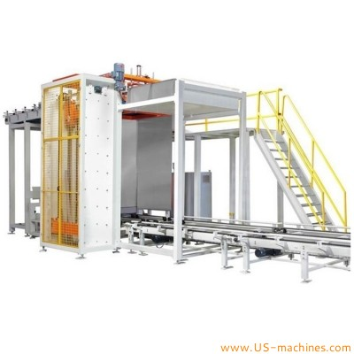 Automatic can tin bottle depalletizer machine empty can high speed tray depalletizing line for food drinks packing processing line