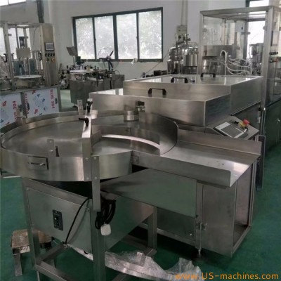 Automatic liquid band aid bottle small dose filling capping machine rotary filler packer production line