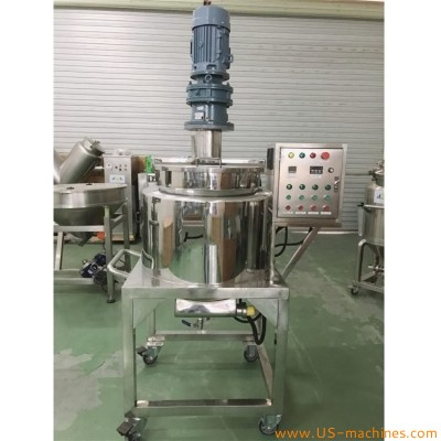 Liquid soap shampoo cream lotion food jam paste heating mixing tank liquid blending heating mixer storage tank making production machine