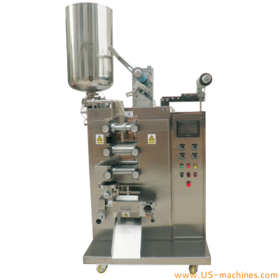 Automatic vertical liquid food sauce paste bag forming filling sealing packing machine VFFS four side sead sachet bag high speed packer