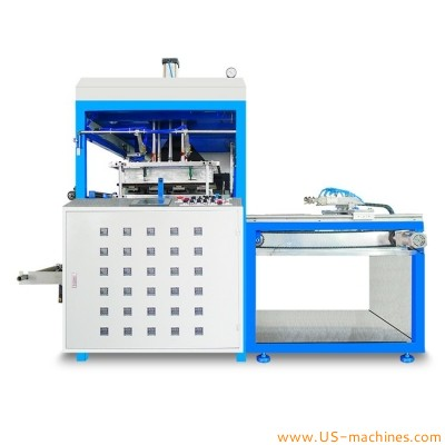 Semi automatic manual plastic tray box cup vacuum thermoforming making machine disposable take away fast food plate tray blister forming equipment